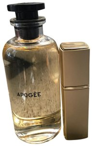 Louis Vuitton ' APOGEE ' in Gold Refillable Glass Travel Spray Atomizer 20ml