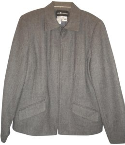 Sag Harbor Wool Lined Gray Blazer