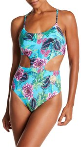 PilyQ PilyQ Paradise Phoenix Cutout One Piece Swimsuit LARGE NWT