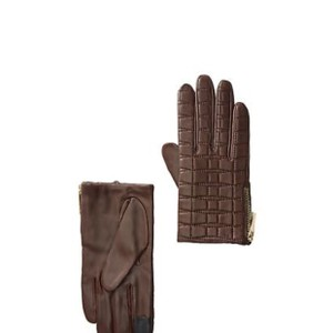 Kate Spade Bow Quilted Genuine Lamb Leather Gloves