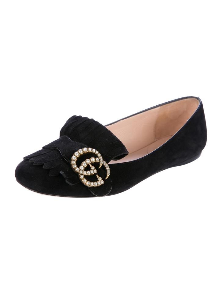 5c66cb8be4d Gucci Black Marmont Pearly-gg Flats Size EU 35 (Approx. US 5 ...