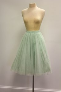Jenny Yoo Mint Tulle Lucy Skirt Formal Bridesmaid/Mob Dress Size 4 (S)