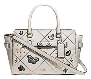 Coach 38453 Swagger 55665 Satchel in chalk white