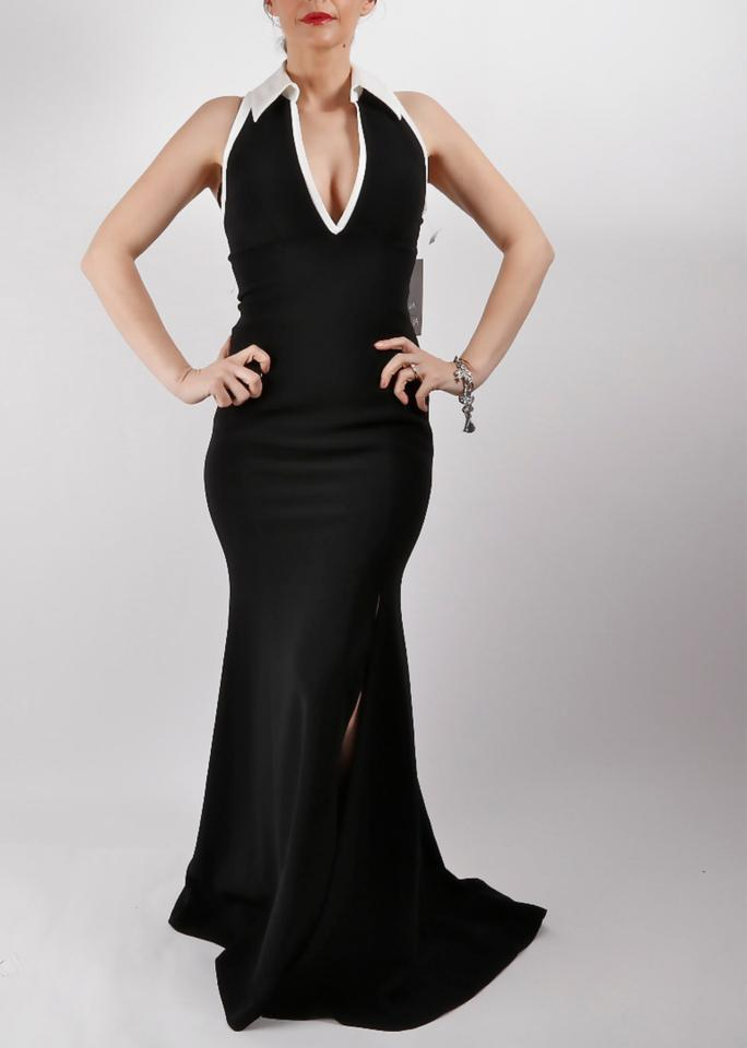 3d5647728c0 Theia Black Couture Sleeveless Evening Gown Long Cocktail Dress Size ...