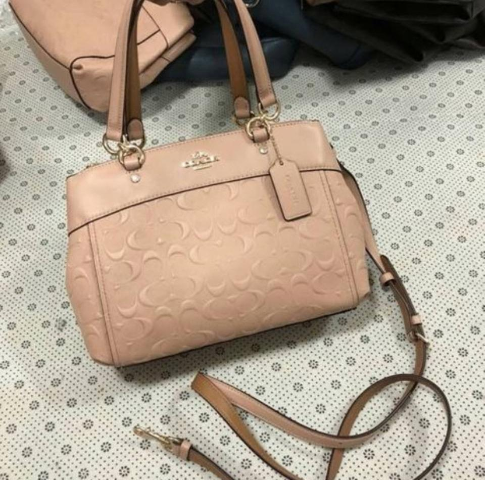 106f29807888 Coach Christie Mini Brooke Carryall Embossed F25928 57523 Beige Leather  Satchel - Tradesy