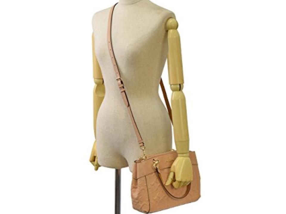 b250695ce4b5 Coach Carryall 34797 36704 Christie Satchel in beige Image 9. 12345678910