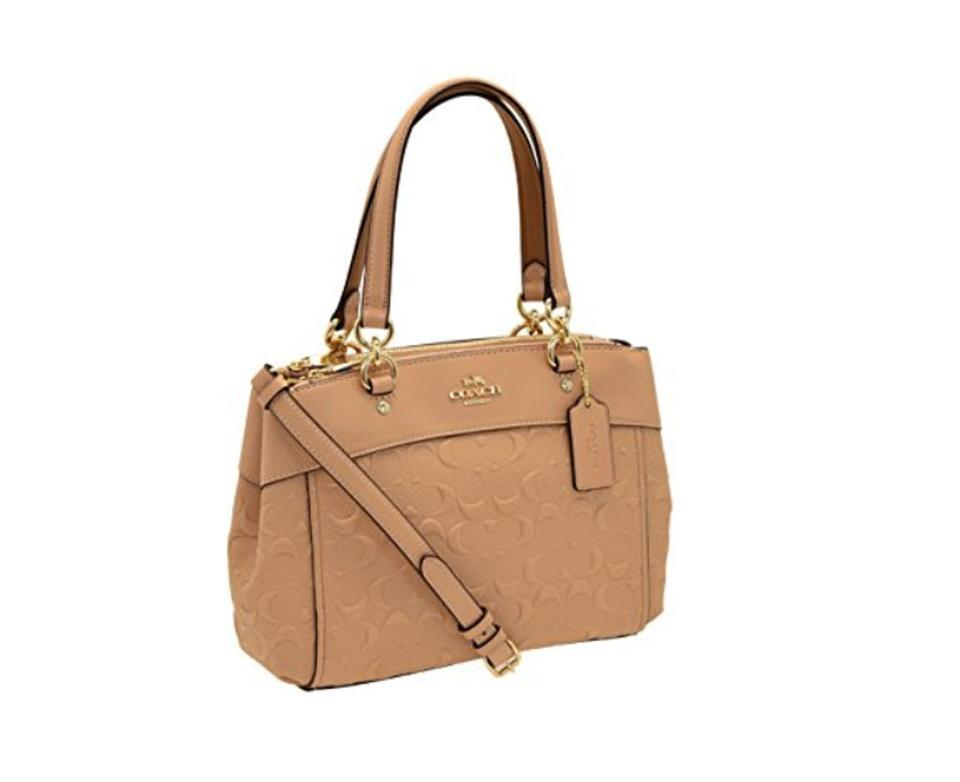 145dd938141c Coach Christie Mini Brooke Carryall Embossed F25928 57523 Nude Pink ...