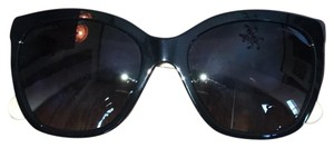 Chanel Goatskin Leather Quilted Cat Eye Sunglasses