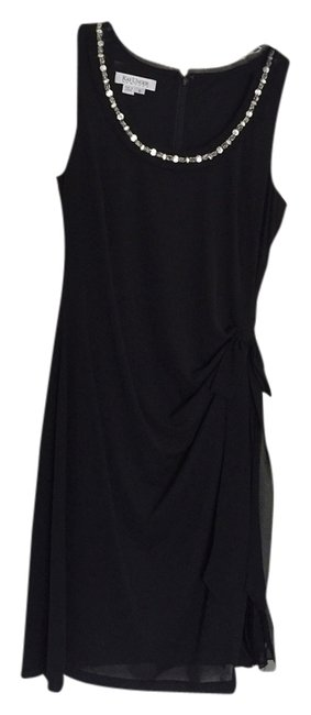 Preload https://img-static.tradesy.com/item/2337832/kay-unger-black-chiffon-knee-length-cocktail-dress-size-8-m-0-0-650-650.jpg