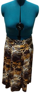 Grace Elements Tiger Print Long Skirt Multi