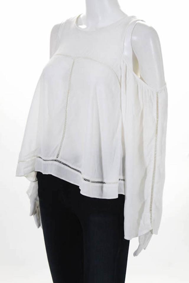 605c89f9c72 Lovers + Friends Off White Cloudbreak Cold-shoulder Blouse Size 4 (S) -  Tradesy