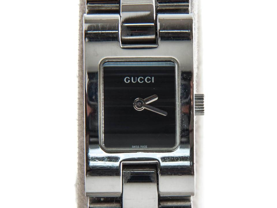 ce56bb76664 Gucci Silver with Black Dial 2305l Stainless Steel Quartz Ladies ...