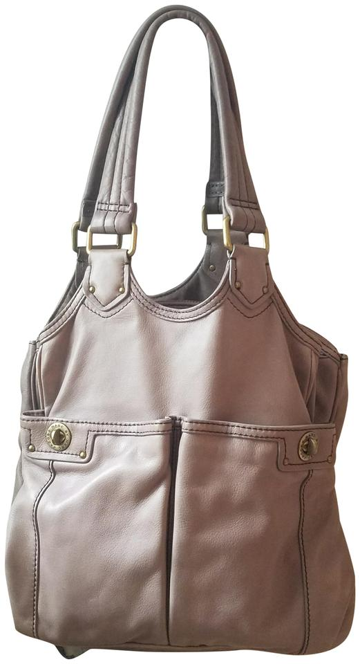 789729e25940 Marc by Marc Jacobs Totally Turnlock-teri Tote Taupe Grey Leather Shoulder  Bag