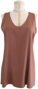 Brunello Cucinelli Tank/Cami Sleeveless Silk Top Brown