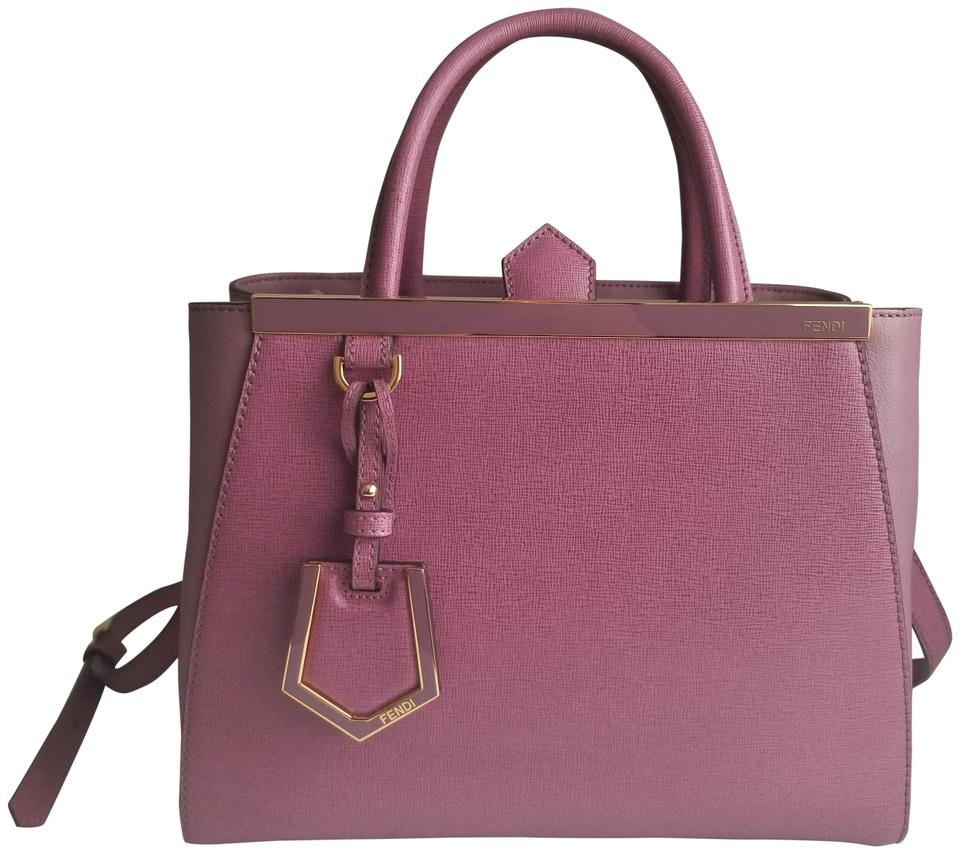 09b0d0e5bd37 Fendi Petit 2 Jours Handbag Purple Lilac Purple Calfskin Shoulder ...