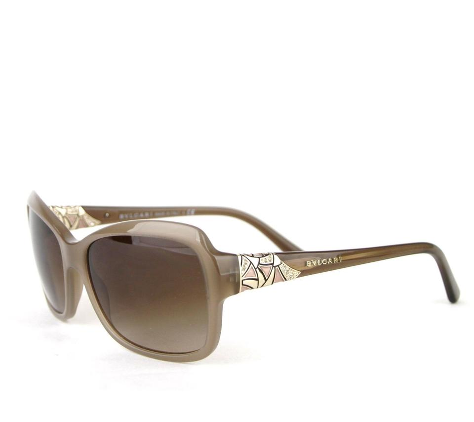 5afbd8b8699 BVLGARI Gray Brown Oversized W Triangle Pattern 8153-b 5349 13 Sunglasses
