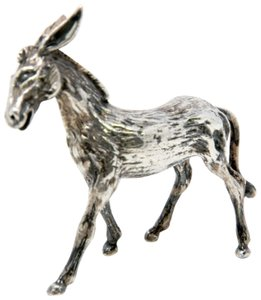Cartier Sterling Silver Young Donkey Sculpture Textured Figurine