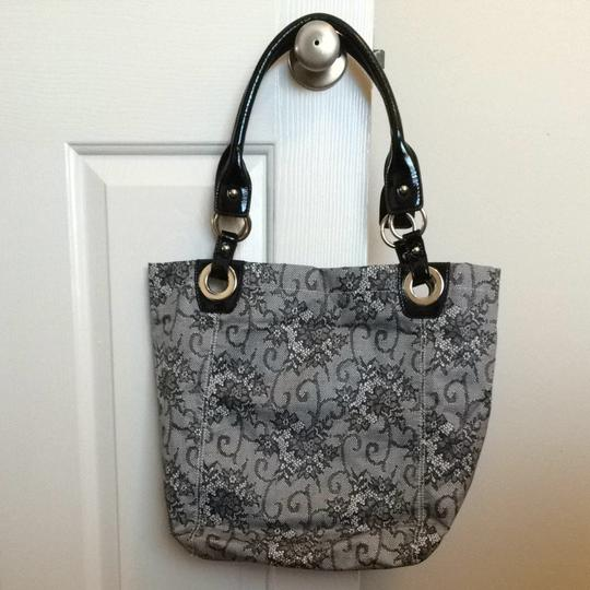 Nine West Tote in Black Lace Image 2