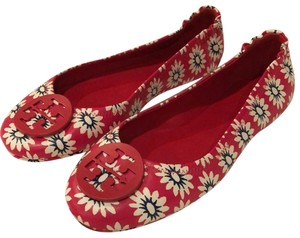 Tory Burch Red Navy White Flats