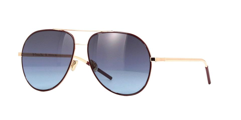 e8dcf8cbc2 Dior Christian Dior ASTRAL 6K3 I7 Burgundy Rose Gold Sunglasses Image 0 ...
