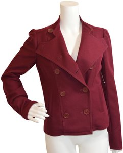 Marc Jacobs Double Breasted Wool Fall/Winter Cranberry Jacket
