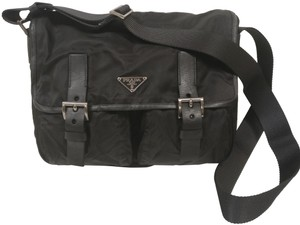 Prada Crossbody Tessuto Nylon black Messenger Bag