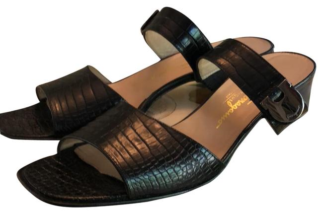 Item - Black Leather Strap Sandals Size US 10 Narrow (Aa, N)