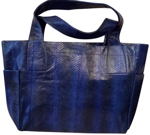 Beirn Leather Tote in Cobalt Blue
