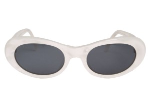 BVLGARI White Pearlescent Sunglasses