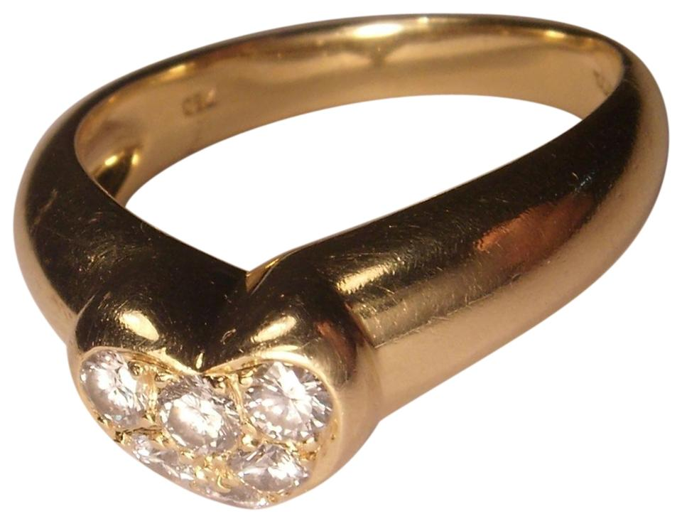 bd68c24f3 Tiffany & Co. Authentic 18K Yellow Gold Tiffany & Co. Diamond Pave Heart  Ring ...