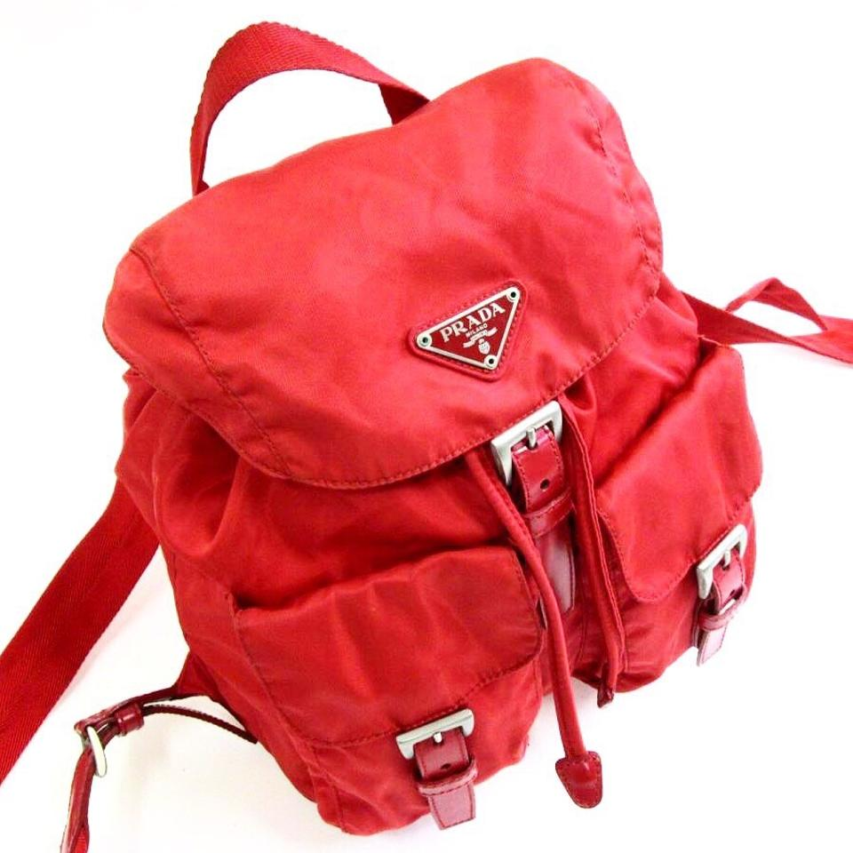0315a3c70dc8 Prada Red Vela Mini Backpack - Tradesy