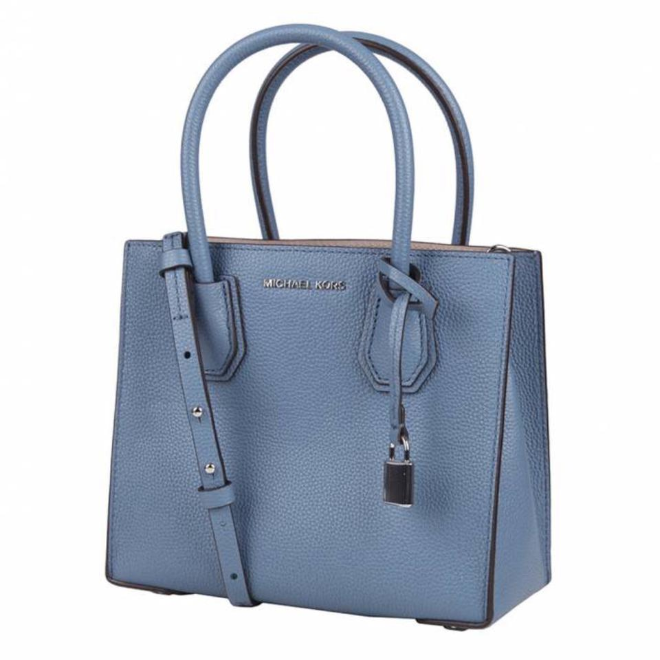 9f818384dcc9 Michael Kors Women s Medium Mercer 30f6sm9m2l Denim Leather Messenger Bag