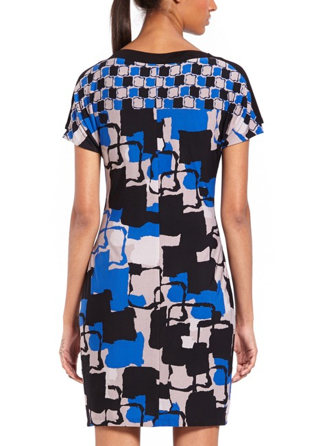 Marc New York short dress Blue Abstract/Multi Color Cap Sleeve Sheath Pullover on Tradesy