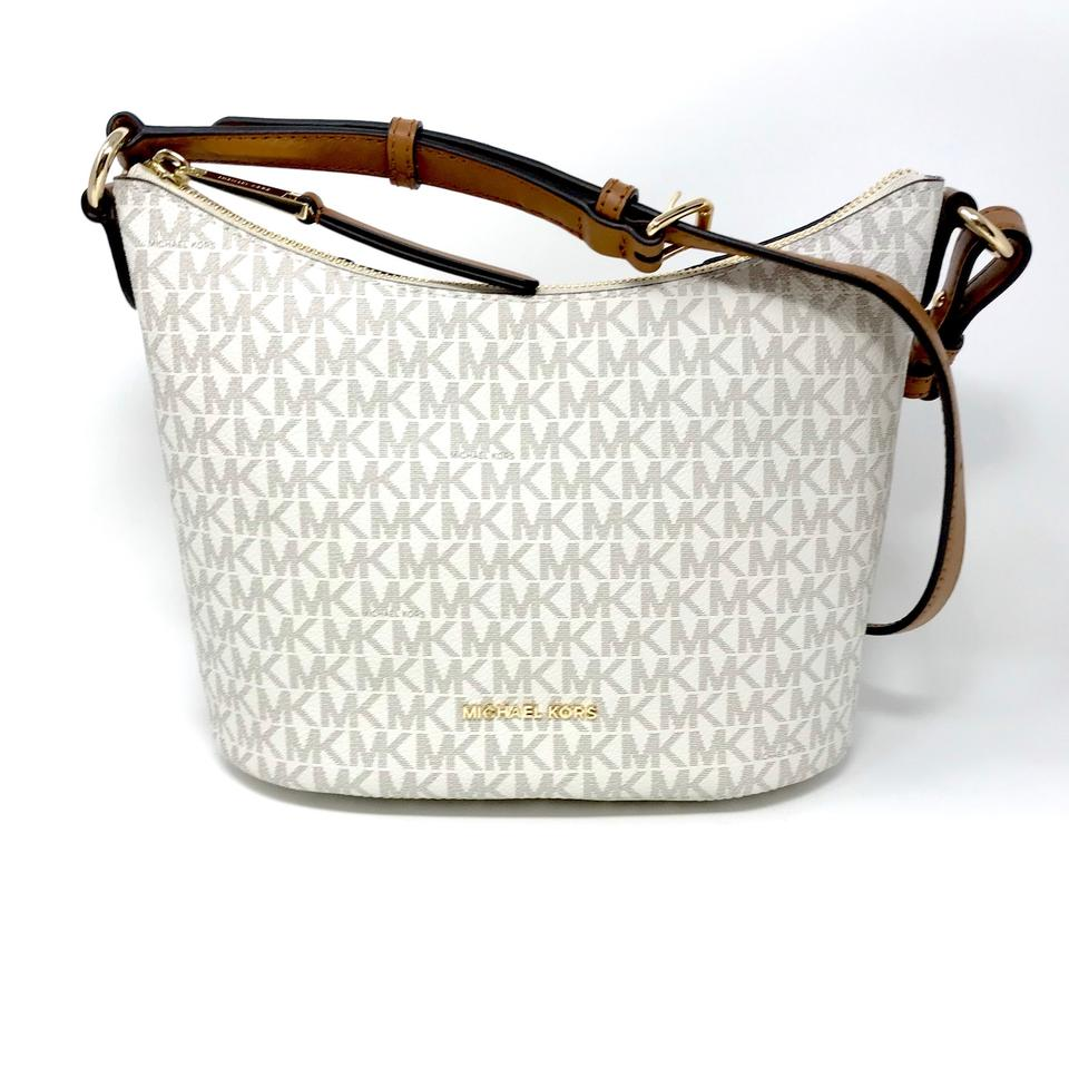 633c0c0f8f5a Michael Kors Lupita 38h7gl6m6b Vanilla Faux Leather Messenger Bag ...