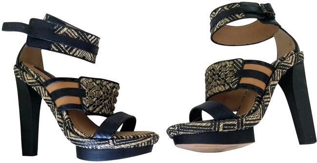 Item - Black Nude Tribal Pattern Varushka Sandals Size US 7.5 Regular (M, B)
