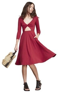 Red Maxi Dress by Reformation Pockets Cutout