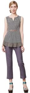 Anthropologie Linen Comfortable Preppy Casual Work Capri/Cropped Pants grey