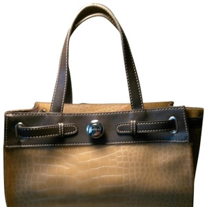 Emilie M Satchel in Tan & Brown