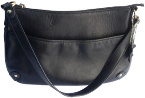 Giani Bernini Leather Handbag Satchel in Black
