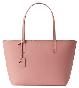 Kate Spade Wkru4664 Lida Scotts Place Tote in Pink Bonnet and Mahogany