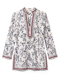 Tory Burch Cotton Embellished Tunic