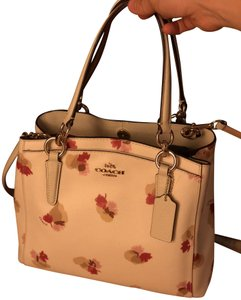 Coach Leather Satchel in Field Floral