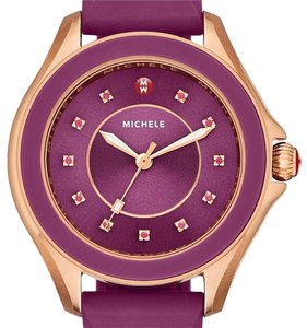 Michele (Rosegold/berry) Topaz Dial Swapable Strap Watch