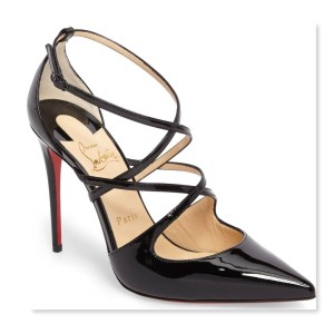 Christian Louboutin Crossfliketa Crisscrossing Straps Black Pumps