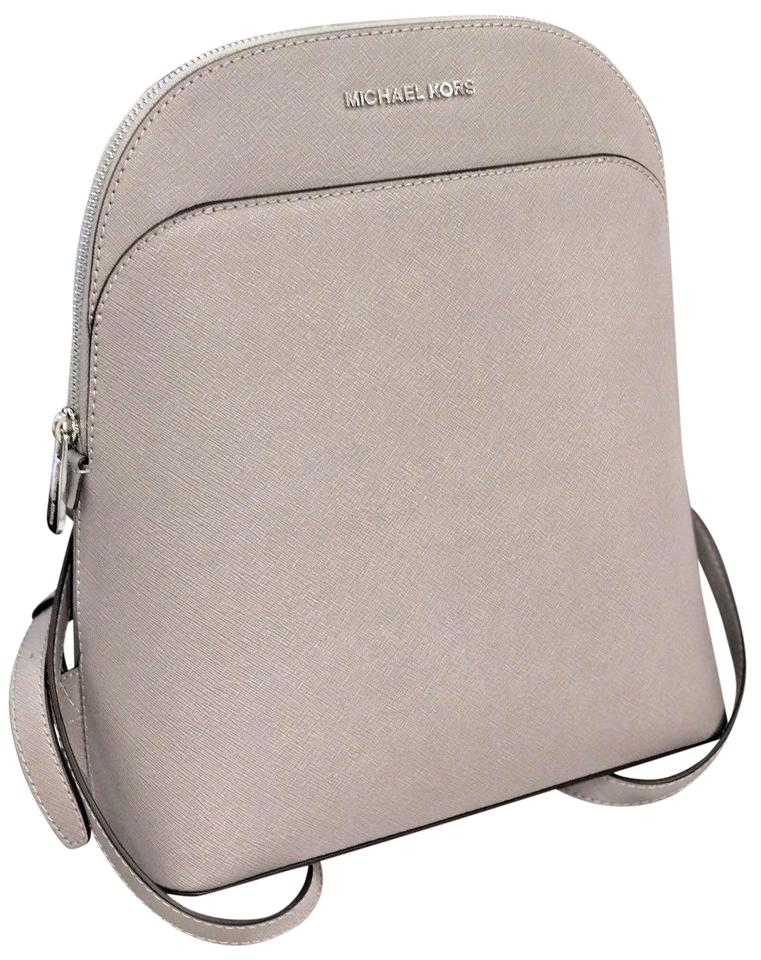 ab2d859fd121 Michael Kors Emmy Pearl Gray Leather Backpack - Tradesy