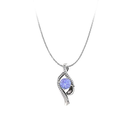 Preload https://img-static.tradesy.com/item/23382189/blue-white-gold-tanzanite-and-cz-freeform-pendant-in-14k-necklace-0-0-540-540.jpg