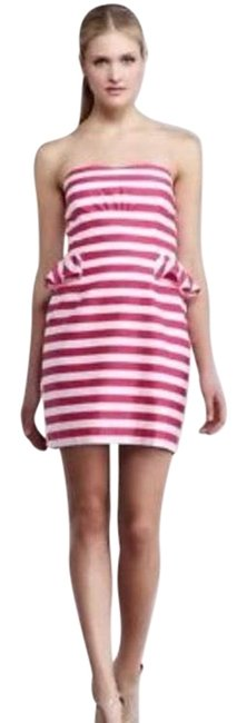 Preload https://img-static.tradesy.com/item/23382292/lilly-pulitzer-pink-and-white-strapless-short-cocktail-dress-size-4-s-0-4-650-650.jpg