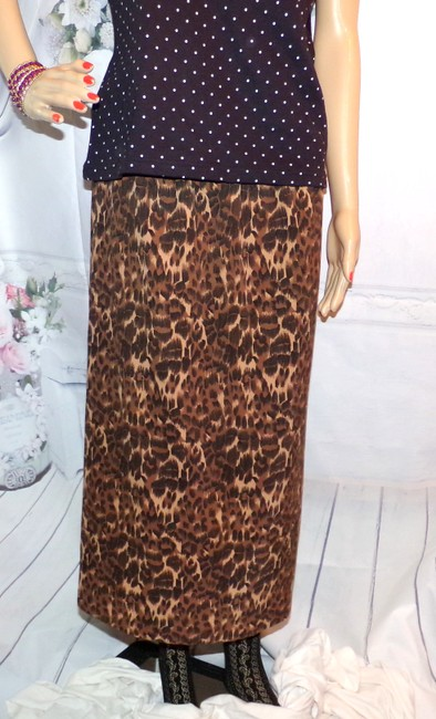 Hartman Studio Vintage Fun Maxi Skirt Multi-Color Leopard Print