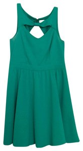 Material Girl short dress Green on Tradesy