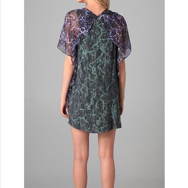 Theyskens' Theory short dress green, purple on Tradesy